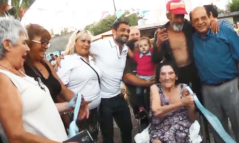 REINAUGURARON LA PLAZA 'SAN MARTÍN' DE HUDSON
