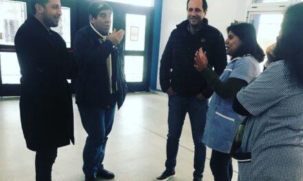 RAVELO VISITÓ JARDIN EN EL PATO