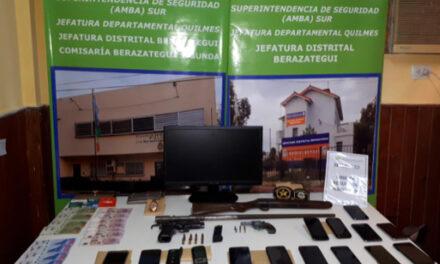 LA POLICÍA DE BERAZATEGUI METIÓ PRESA A PELIGROSA BANDA DE LA ZONA