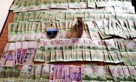 POLICIA LOCAL DE BERAZATEGUI INCAUTA 2 KILOS DE DROGAS Y $ 100 MIL EN EFECTIVO