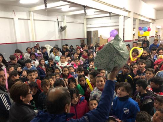 Festejos y Bicicleteada en Sourigues por el 'Día del Niño'