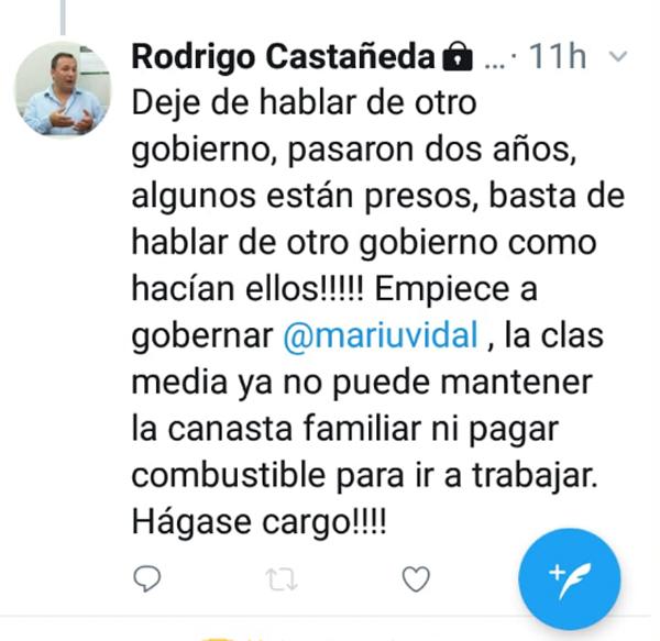 CASTAÑEDA RECARGADO (…) COBRA DE LA VIDAL PERO 'LA MATA' EN RED SOCIAL