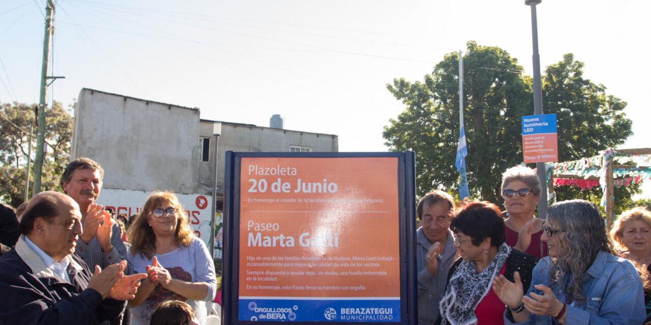 HUDSON YA DISFRUTA DE LA  RENOVADA PLAZOLETA '20 DE JUNIO'