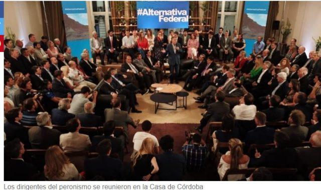 En encuentro que reunió a 150 dirigentes, 'Alternativa Federal' deslizó que va a competir en 2019