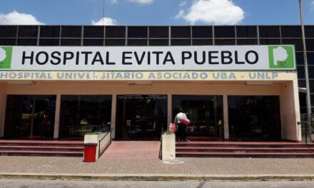 BORRARON IMAGEN DE 'EVITA' DEL FRENTE DEL HOSPITAL DE BERAZATEGUI