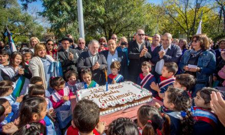 MUSSI CELEBRÓ JUNTO A VECINOS EL 135º ANIVERSARIO DE JUAN M. GUTIÉRREZ