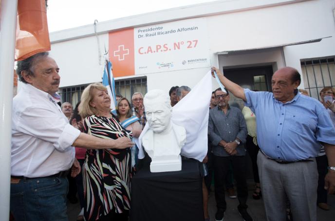 AFRENTA: ROBARON EL BUSTO DE ALFONSIN EN HUDSON