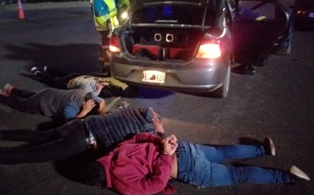 POLICIA VIAL DETUVO PELIGROSA BANDA ARMADA, EN HUDSON