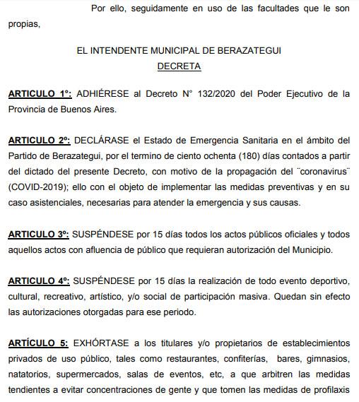 MUNICIPIO DE BERAZATEGUI SUSPENDIÓ ACTIVIDADES EN EL 'CLUB DUCILO'
