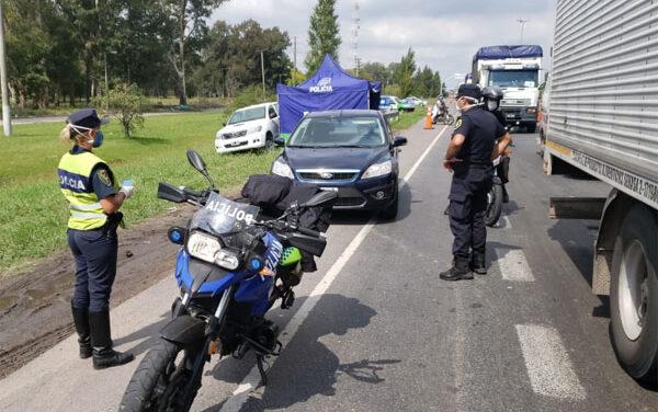 FUERTES OPERATIVOS DE LA POLICÍA VIAL EN LA ZONA