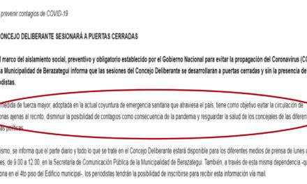 ¡ CUIDADO ! SEGÚN EL MUNICIPIO, LOS PERIODISTAS PUEDEN CONTAGIAR CORONAVIRUS