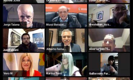 ALBERTO FERNÁNDEZ PARTICIPÓ DE UN ENCUENTRO MILITANTE