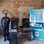 ROBARON EQUIPOS DE MÚSICA: TODOS PRESOS