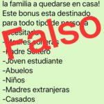 ALERTA POR INFORMACIÓN FALSA SOBRE LA TARJETA ALIMENTAR