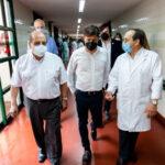 KICILLOF Y MUSSI RECORRIERON EL HOSPITAL PARA MONITOREAR OPERATIVO DE VACUNACIÓN