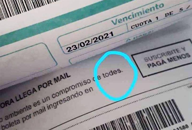 BOLETAS DE ARBA, CON LENGUAJE INCLUSIVO…